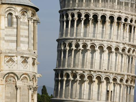 Cathedral and Leaning Tower of Pisa Photographic Print