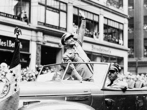 General Dwight D. Eisenhower in Parade, 1945 Photo