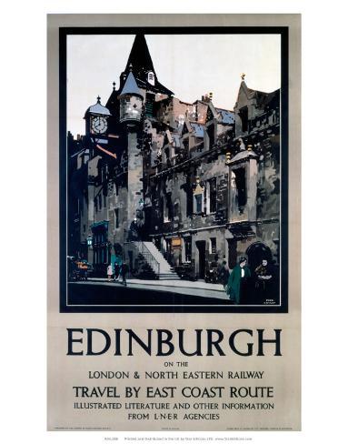 Edinburgh, LNER, c.1923-1947 Konstprint