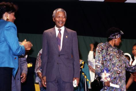 Nelson Mandela, 1990 Photographic Print