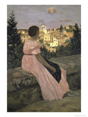 The Pink Dress, c.1864 Impressão giclée