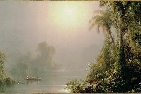 Morning in the Tropics, C.1858 Stampa giclée