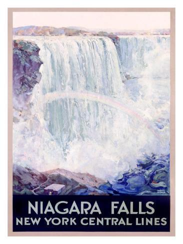 New York, Central Lines, Niagara Falls Giclee Print