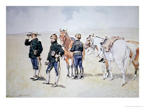 Cavalry Scouts, c.1890 Giclee Print