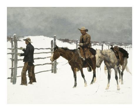 The Fall of The Cowboy Art Print