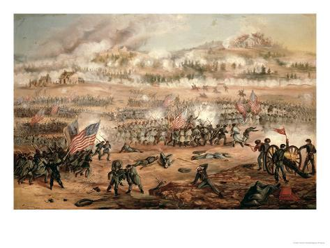 The Union Attack on Marye's Heights During the Battle of Fredericksburg, 13th December 1862 Giclee Print