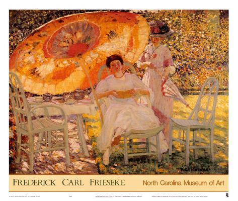 The Garden Parasol, 1909 Art Print