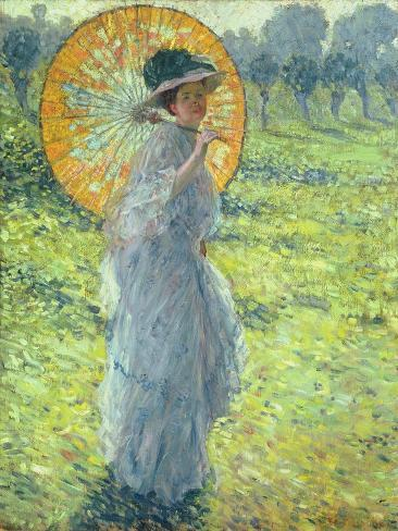 Woman with a Parasol, c. 1906 Lámina giclée