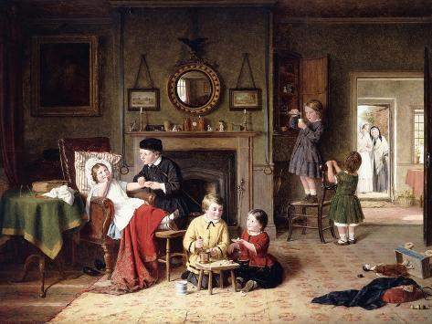 Playing Doctor, 1863 Lámina giclée