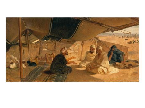 Arabs in the Desert, 1871 Impressão giclée