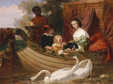 The Children of King Charles I Lámina giclée