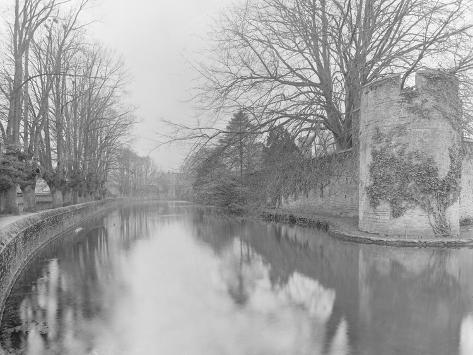 The Moat, Bishop's Palace, Wells Photographic Print