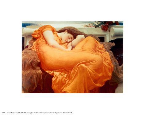 Flaming June, c.1895 Art Print