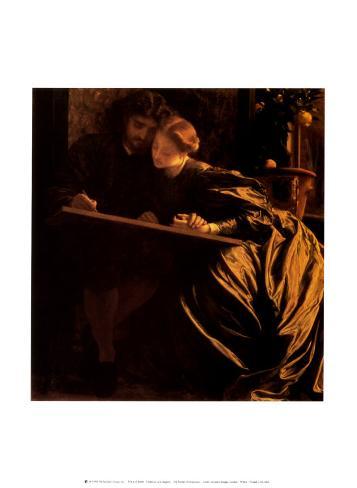 The Painter's Honeymoon, 1864 Art Print