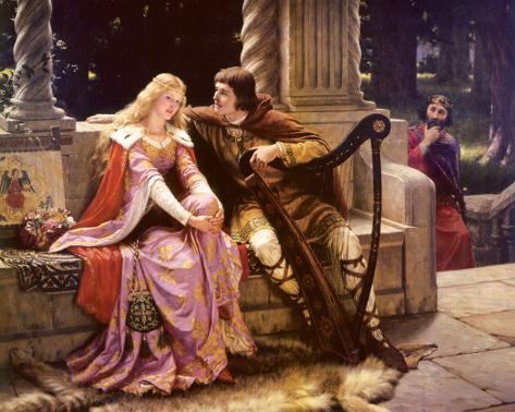 Tristán e Isolda Reproducción de lámina sobre lienzo