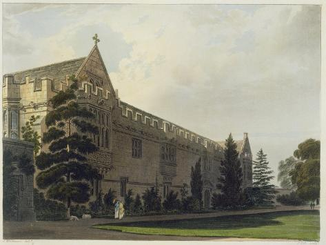 St. John's College, 'History of Oxford', Engraved by J. Hill, Pub. by R. Ackermann, 1813 Giclee Print