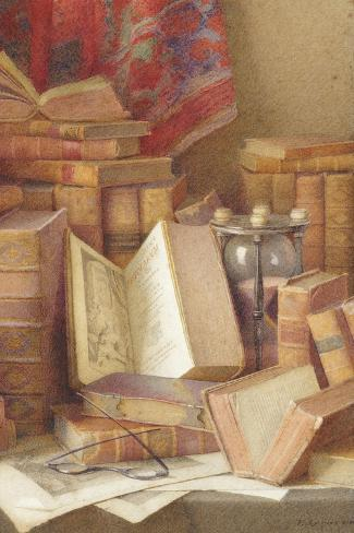 Old Books to Read Giclee Print