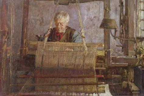 The Last of the Handloom Weavers Giclee Print