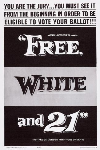 Free, White and 21, 1963 Art Print