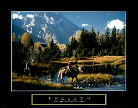 Freedom: Cowboys Art Print
