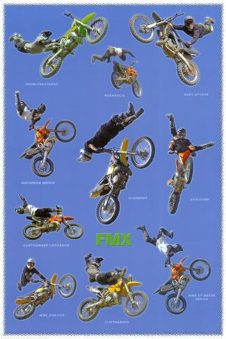 Freestyle Motocross (Riders in Air, FMX) Sports Poster Print Poster