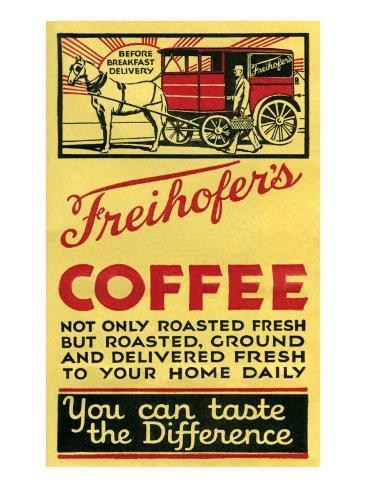 Freihofer's Coffee Art Print