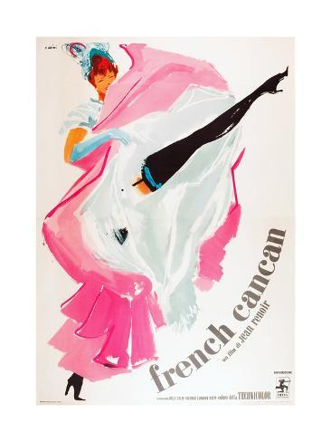 French Can Can, (aka Only the French Can), Italian poster art, 1955 Konstprint