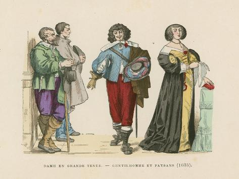 French Costumes, 17th Century Giclee Print