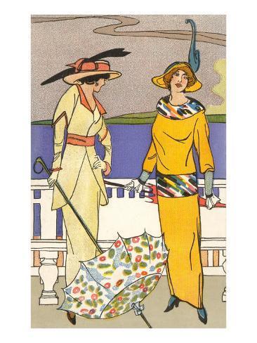 French Fashion, Art Deco Art Print