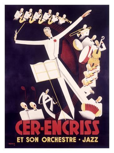french jazz orchestra poster