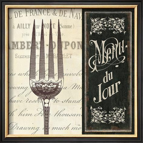 French Menu II Framed Art Print