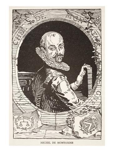 Michel De Montaigne (Litho) Giclee Print
