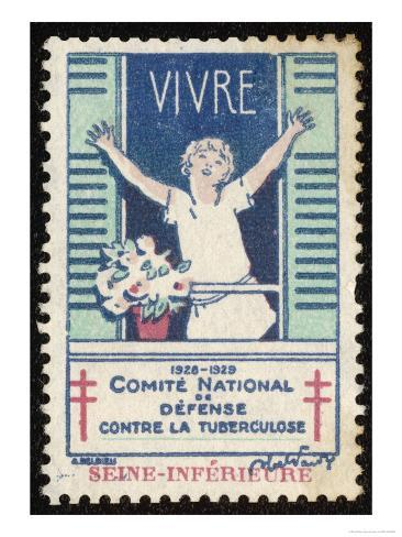 French Postage Stamp Promoting Fresh Air and Sunshine to Fight Tuberculosis Giclee Print