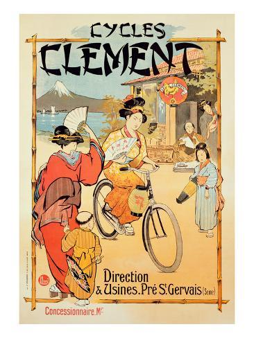 Poster Advertising 'Cycles Clement', Pre Saint-Gervais (Colour Litho) Giclee Print
