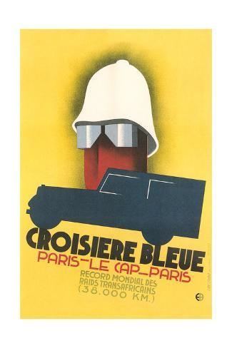 French Poster for Blue Crossing Stampa giclée