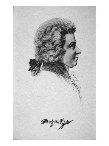 Portrait of Wolfgang Amadeus Mozart Giclee Print