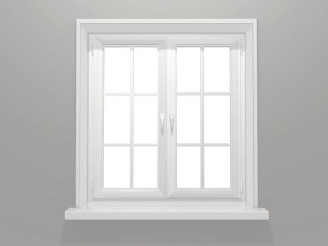Closed Window Premium Giclee Print