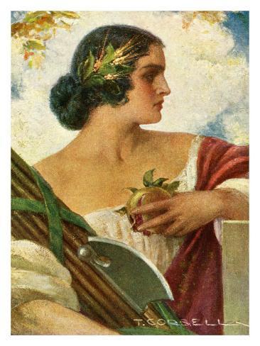 Fresco of Roma Women Giclee Print