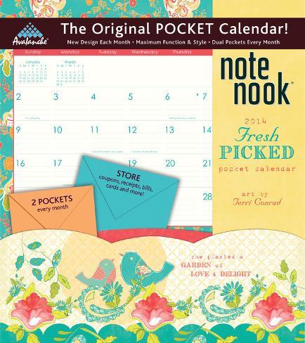 Fresh Picked - 2014 Pocket Calendar Calendars