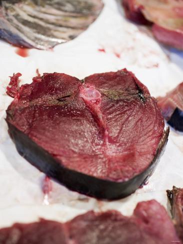 Fresh Tuna Steak at a Market Photographic Print