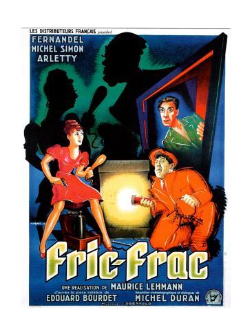 Fric-Frac, French poster art, Arletty, Michel Simon, Fernandel, 1939 Art Print