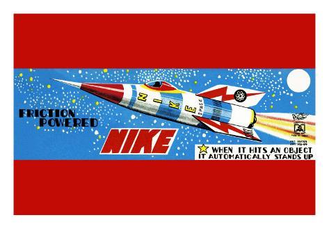 Friction Powered Nike Art Print