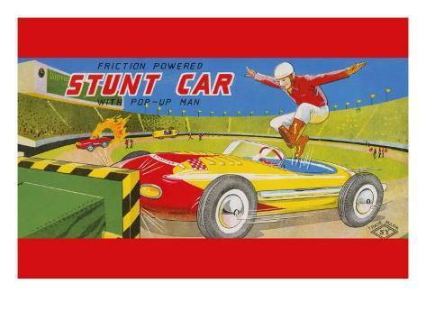 Friction Powered Stunt Car Art Print