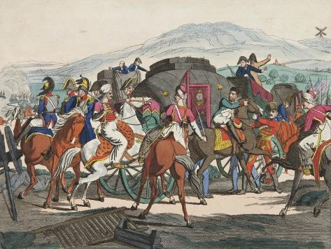 The Flight of Napoleon from the Battle of Waterloo, 1815 Giclee Print