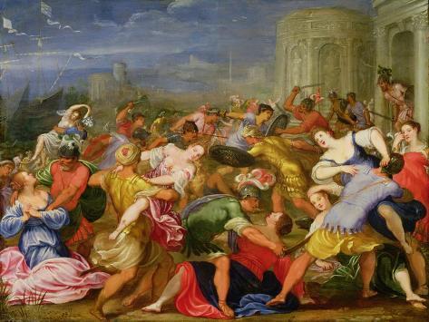 The Rape of the Sabine Women, 1622 Giclee Print