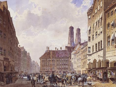Marienplatz, Munich Giclee Print