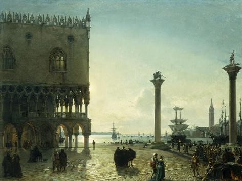 Marco Friedrich piazza san marco at giclee print by friedrich nerly at