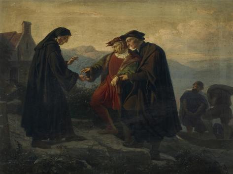 The Reformer Ulrich Von Hutten Is Brought by Huldrych Zwingli to Ufenau, on Lake Zurich, 1861 Giclee Print