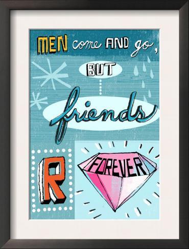 Friends are Forever Framed Art Print