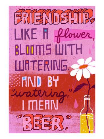 Friendship Blooms Like a Flower Seinätarra